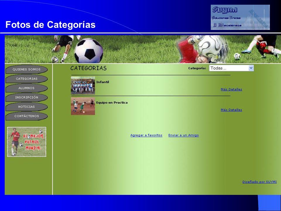 Objetivos Fotos de Categorías