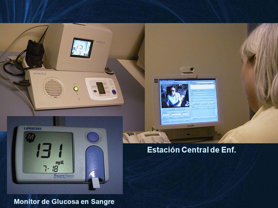 Estación Central de Enf. Estación del Pte. en casa Monitor de Glucosa en Sangre