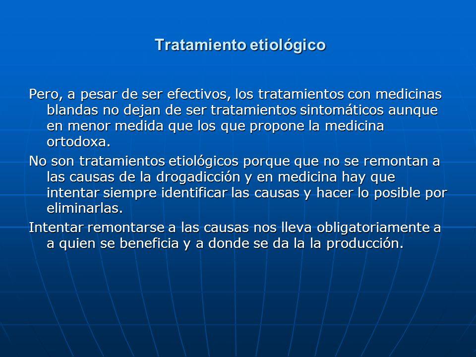 Tratamiento etiológico Tratamiento etiológico Pero, a pesar de ser efectivos, los tratamientos con medicinas blandas no dejan de ser tratamientos sint