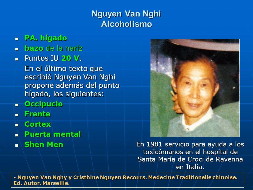Nguyen Van Nghi Alcoholismo PA. hígado PA. hígado bazo de la naríz bazo de la naríz Puntos IU 20 V. Puntos IU 20 V. En el último texto que escribió Ng