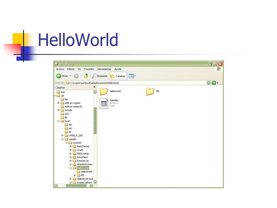 Compilando, instalando y ejecutando Compilación de la aplicación.