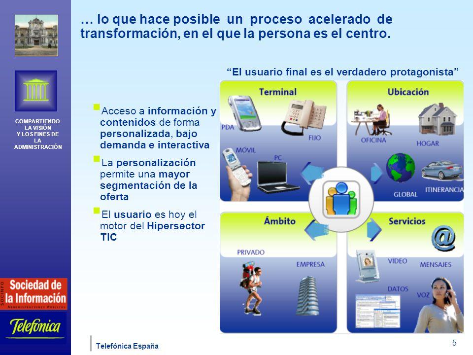 COMPARTIENDO LA VISIÓN Y LOS FINES DE LA ADMINISTRACIÓN Telefónica España 16