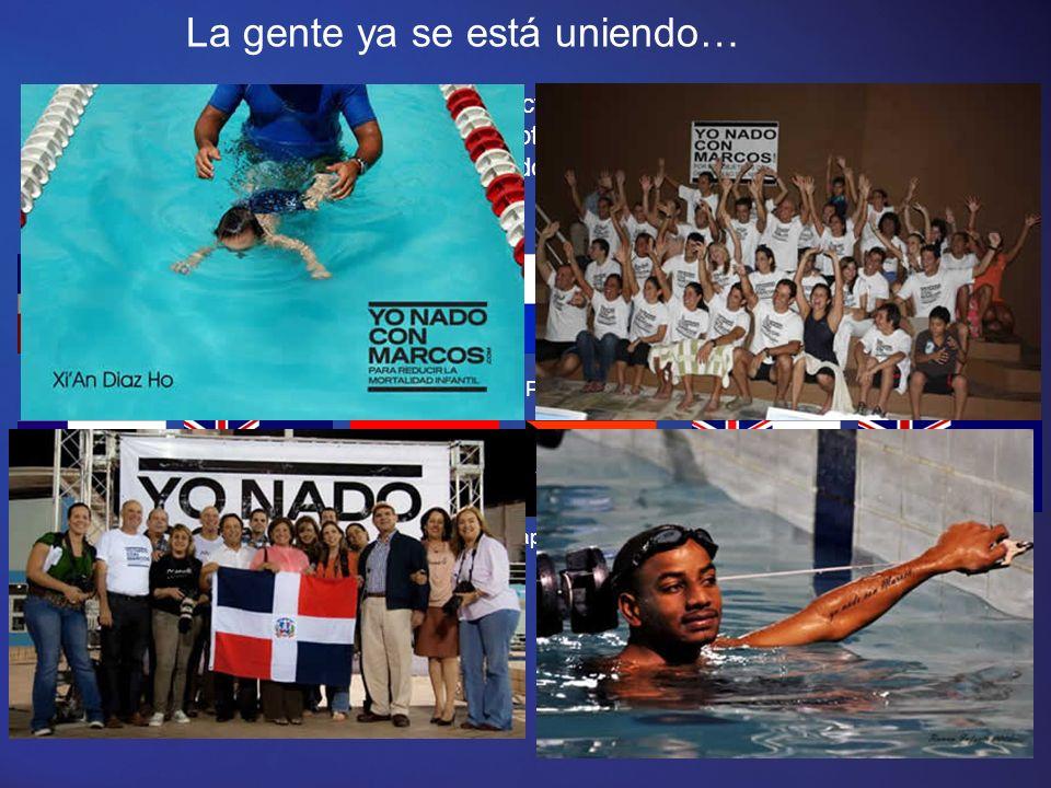 Nada simultáneamente con Marcos Asegúrate de seguir el nado.