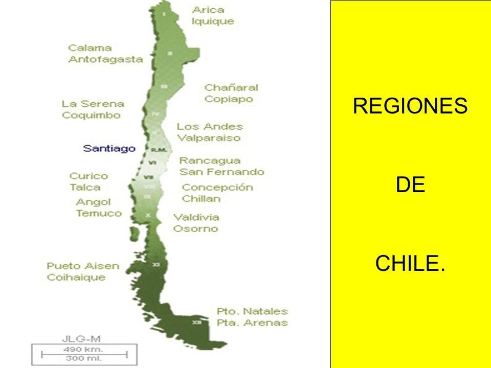 REGIONES DE CHILE.