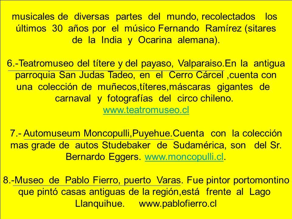 musicales de diversas partes del mundo, recolectados los últimos 30 años por el músico Fernando Ramírez (sitares de la India y Ocarina alemana). 6.-Te