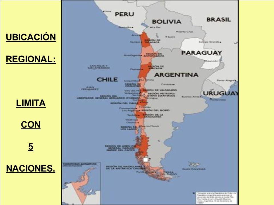 UBICACIÓN REGIONAL: LIMITA CON 5 NACIONES.