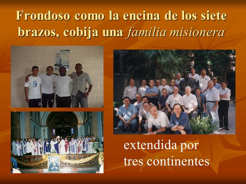 Frondoso como la encina de los siete brazos, cobija una familia misionera extendida por tres continentes