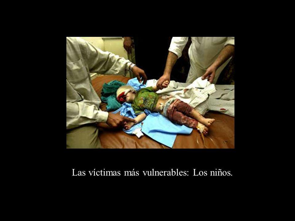 Las víctimas más vulnerables: Los niños.