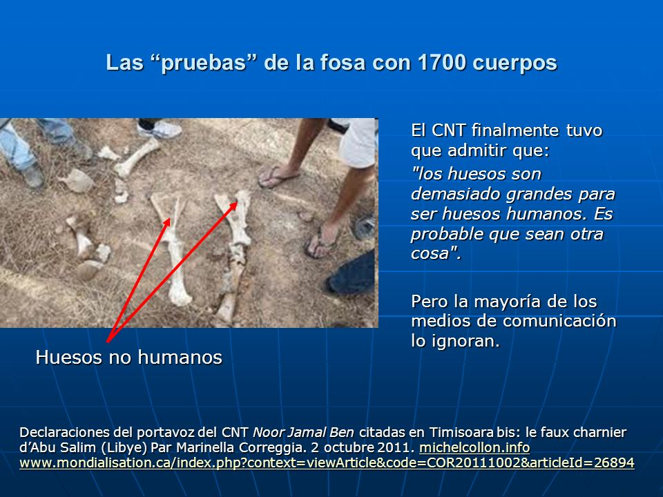 Las pruebas de la fosa con 1700 cuerpos El CNT finalmente tuvo que admitir que: