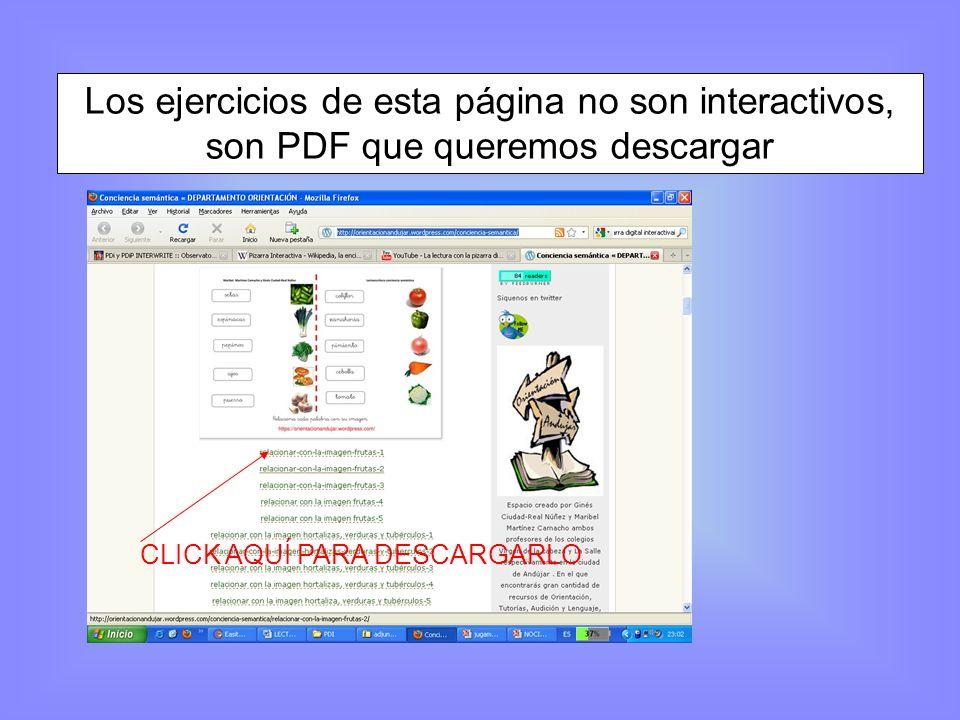 Una vez descargado, no tenemos una aplicación sobre la que actuar, tenemos un PDF, es como una imagen sobre la que no podemos actuar.