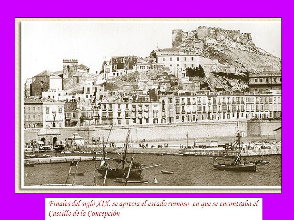 A la izquierda vemos la cúpula del antiguo ayuntamiento desaparecido en 1893