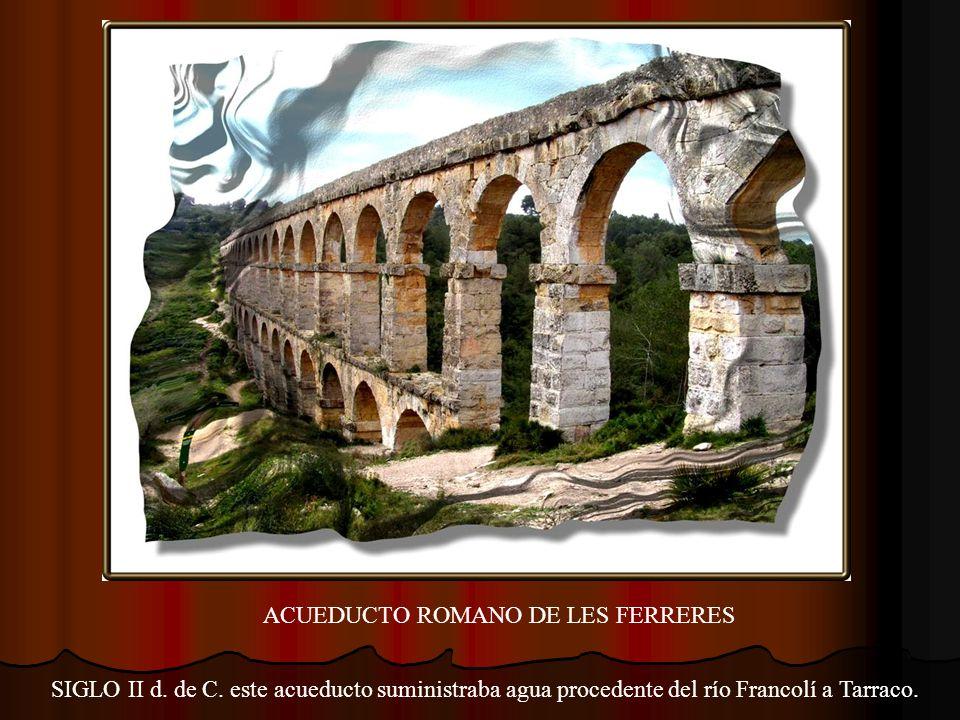 LES VOLTES DEL PALLOL Los arcos inferiores (siglo II d. de C.) son restos del recinto oficial, gubernativo y administrativo de la provincia.