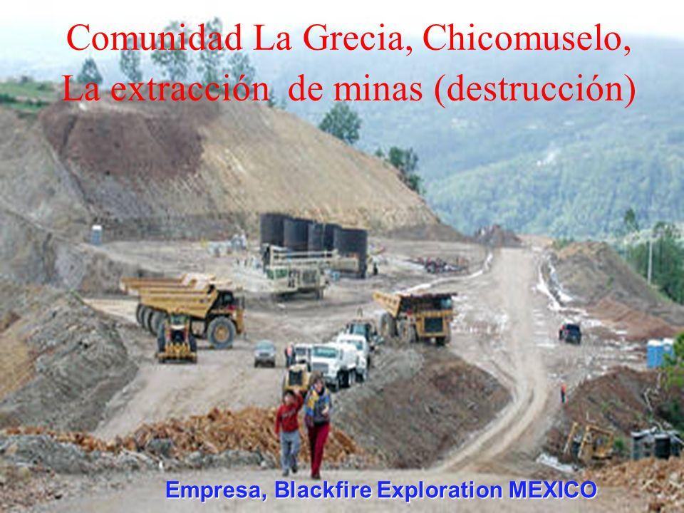 La destrucción de sus montañas y la contaminación de sus Ríos La Sierra Madre de Chiapas Zona de alta vulnerabilidad El embate de Mineras canadienses.