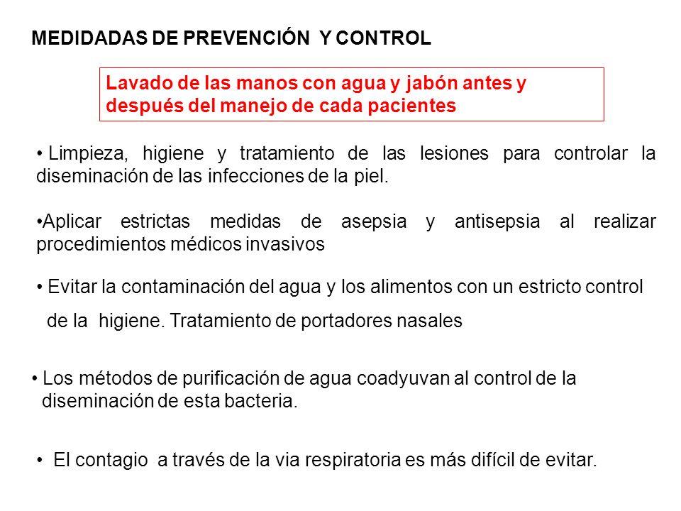 Limpieza, higiene y tratamiento de las lesiones para controlar la diseminación de las infecciones de la piel. Aplicar estrictas medidas de asepsia y a