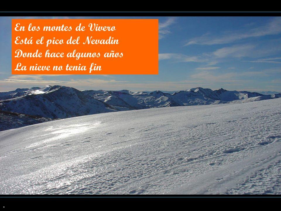 . En los montes de Vivero Está el pico del Nevadin Donde hace algunos años La nieve no tenia fin