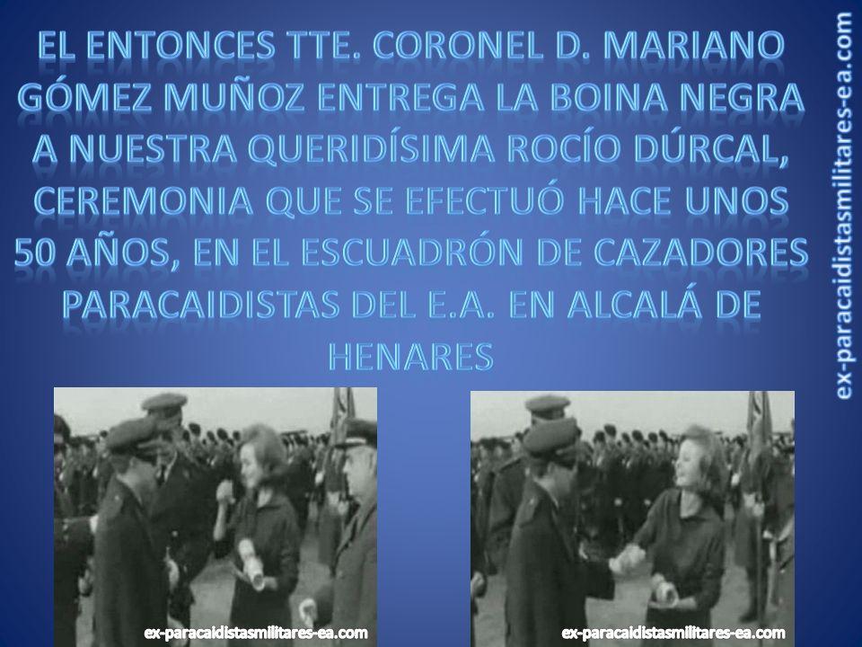 1958 1ª PATRULA ACROBÁTICA DE PARACAIDISMO EN COMPETENCIAS INTERNACIONALES: Ttes.
