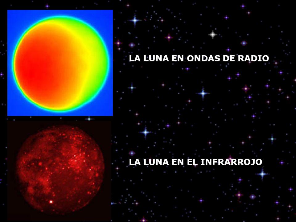 LA LUNA EN ONDAS DE RADIO LA LUNA EN EL INFRARROJO