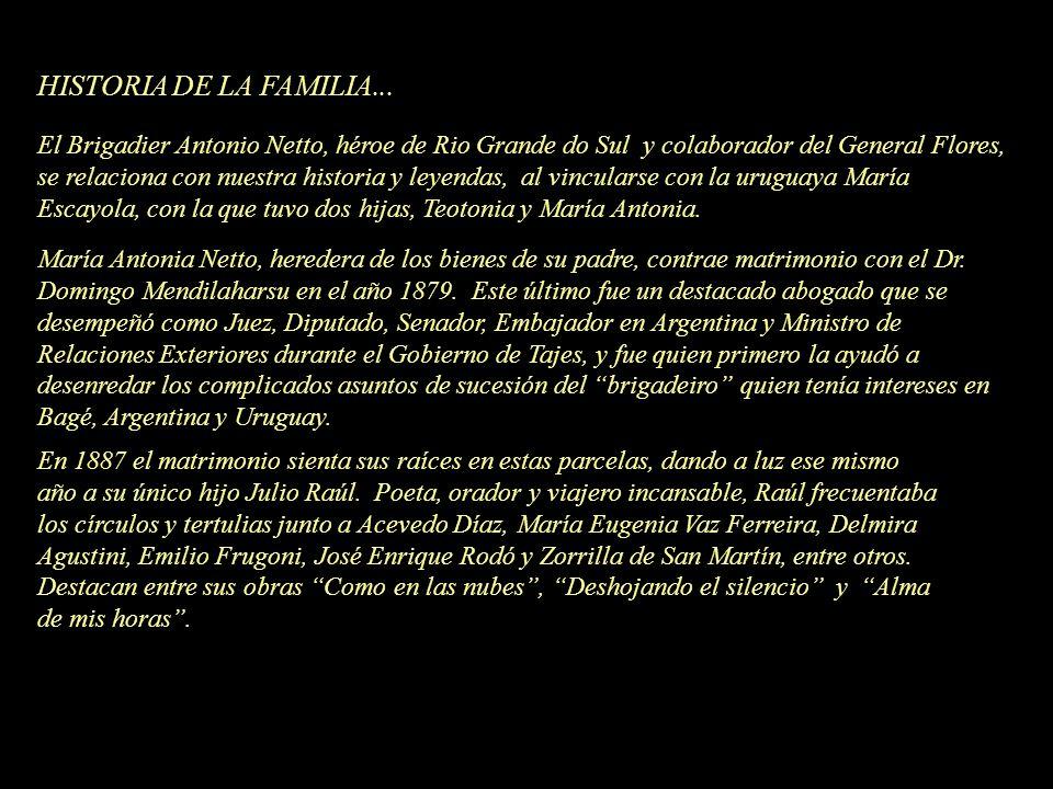 HISTORIA DE LA FAMILIA... El Brigadier Antonio Netto, héroe de Rio Grande do Sul y colaborador del General Flores, se relaciona con nuestra historia y