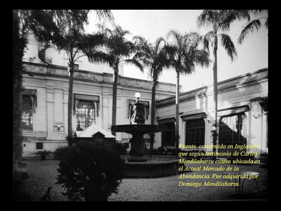 Fuente construida en Inglaterra que según testimonio de Carlos Mendilaharsu estuvo ubicada en el Actual Mercado de la Abundancia. Fue adquirida por Do