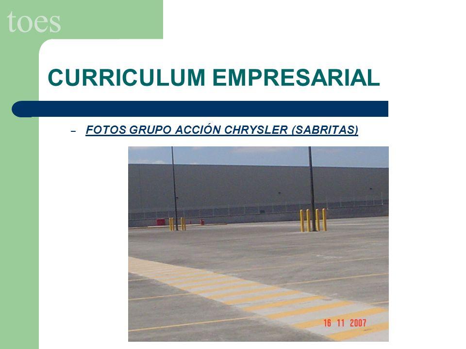 toes CURRICULUM EMPRESARIAL – FOTOS GRUPO ACCIÓN CHRYSLER (SABRITAS)
