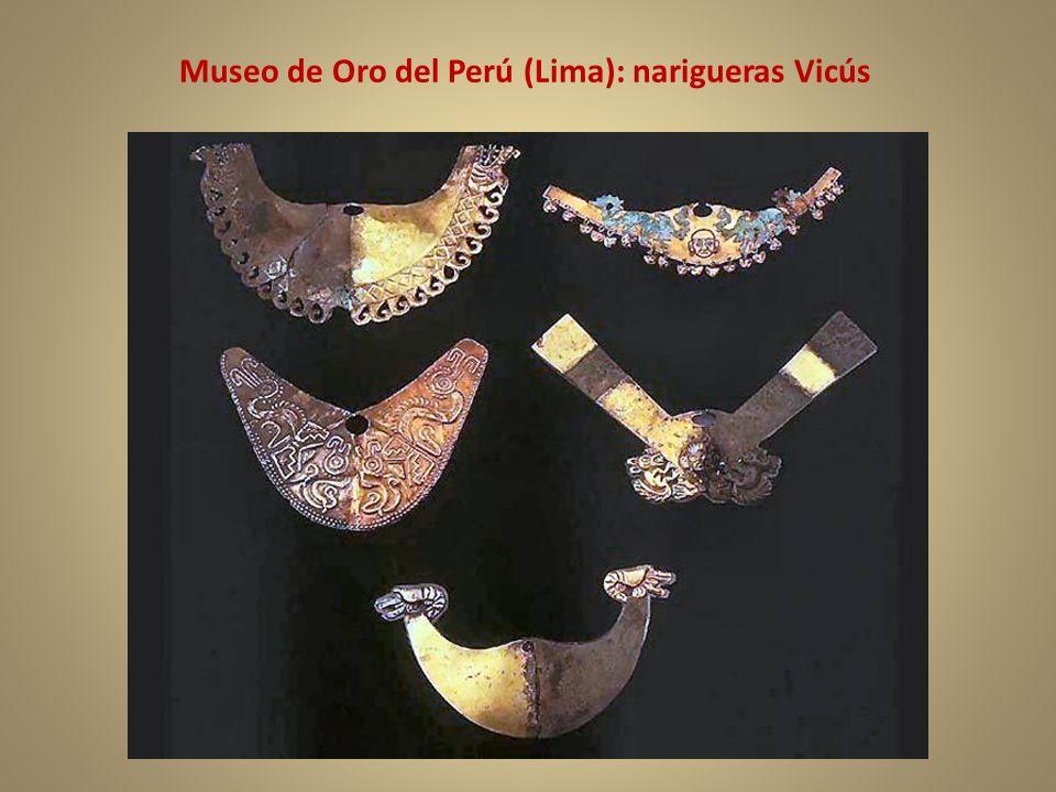 Museo de Oro del Perú (Lima): narigueras Vicús
