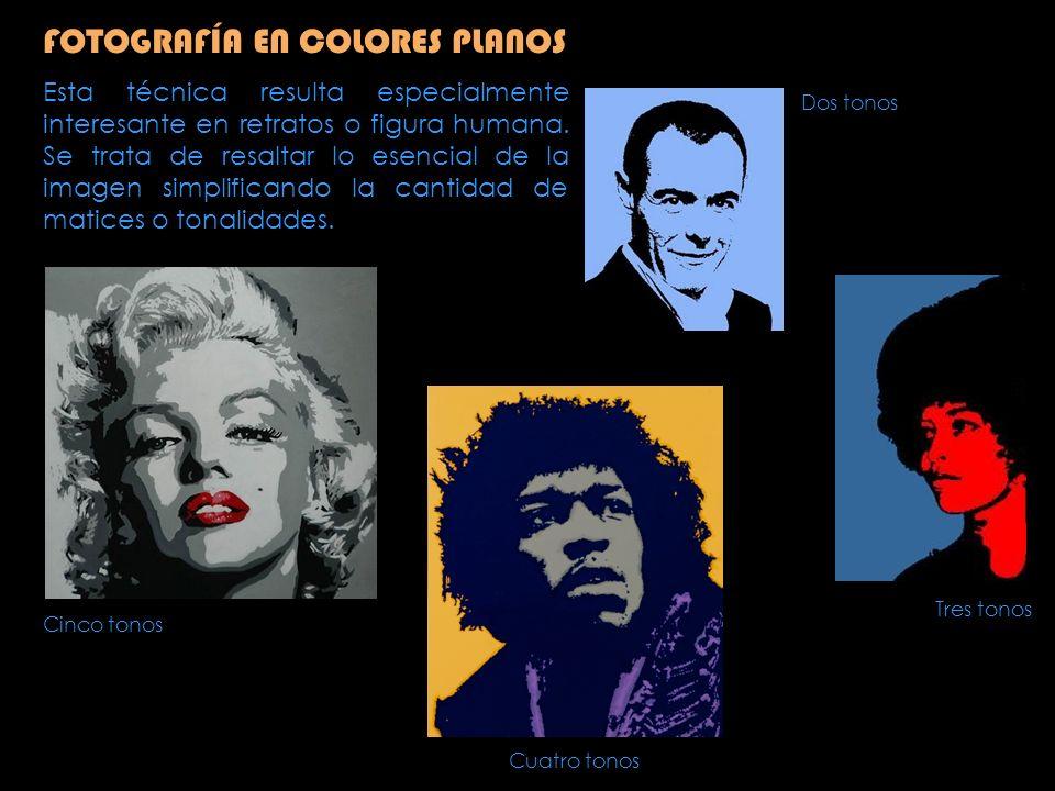 FOTOGRAFÍA EN COLORES PLANOS Se parte de una fotografía; si es en color, mejor pasarla a blanco y negro.