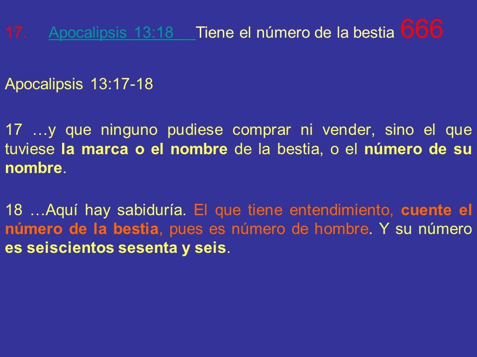 16.Apocalipsis 17:9Esta localizada en 7 montes. ¿Sabías que al Vaticano también se le conoce como La ciudad de los 7 montes? 1. Capitolina 2. Quirinal