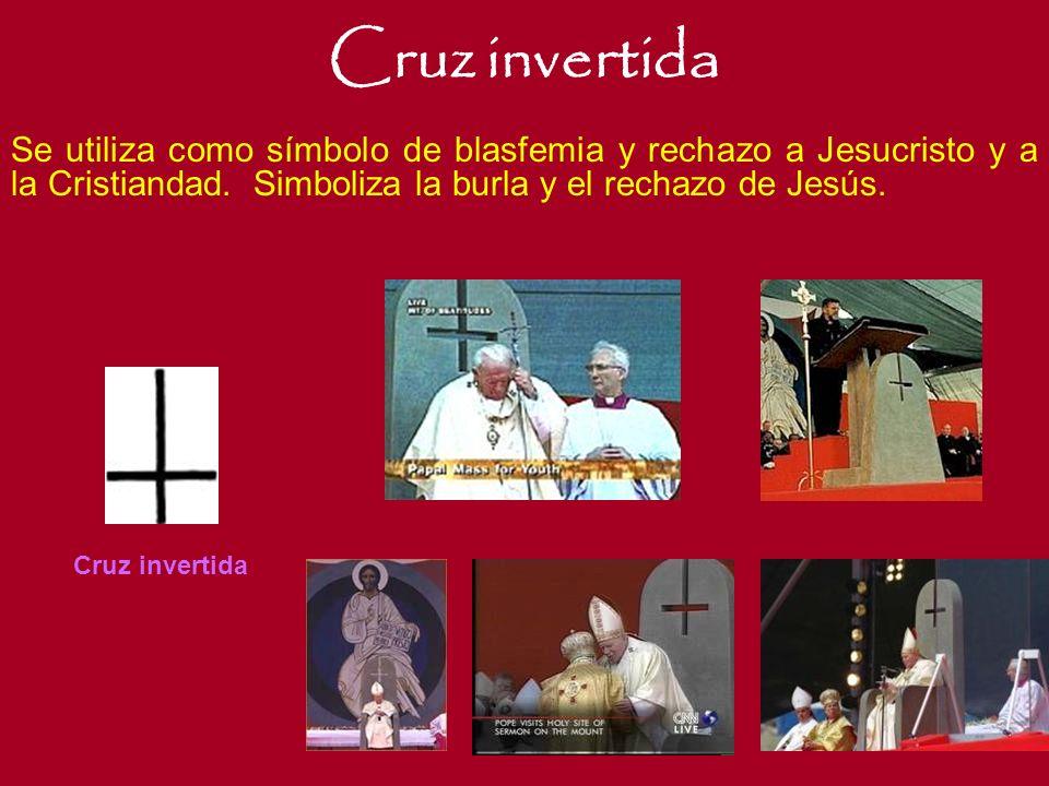 Cruz Torcida El crucifijo Satánico, es el símbolo máximo del Anticristo. Creado por los satanistas en el siglo VI. Este, muestra un aspecto de Jesucri