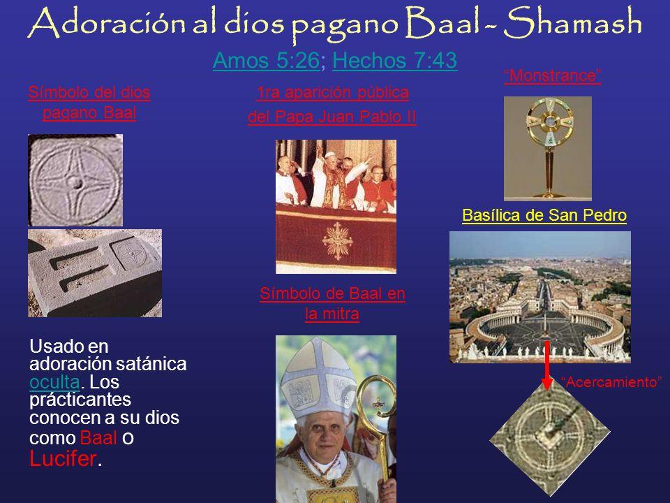 Uso de la mitra, de los antiguos sacerdotes paganos en honor al dios-pez Dagón, falso salvador Adoración pagana al dios Dagón En la foto superior, a l