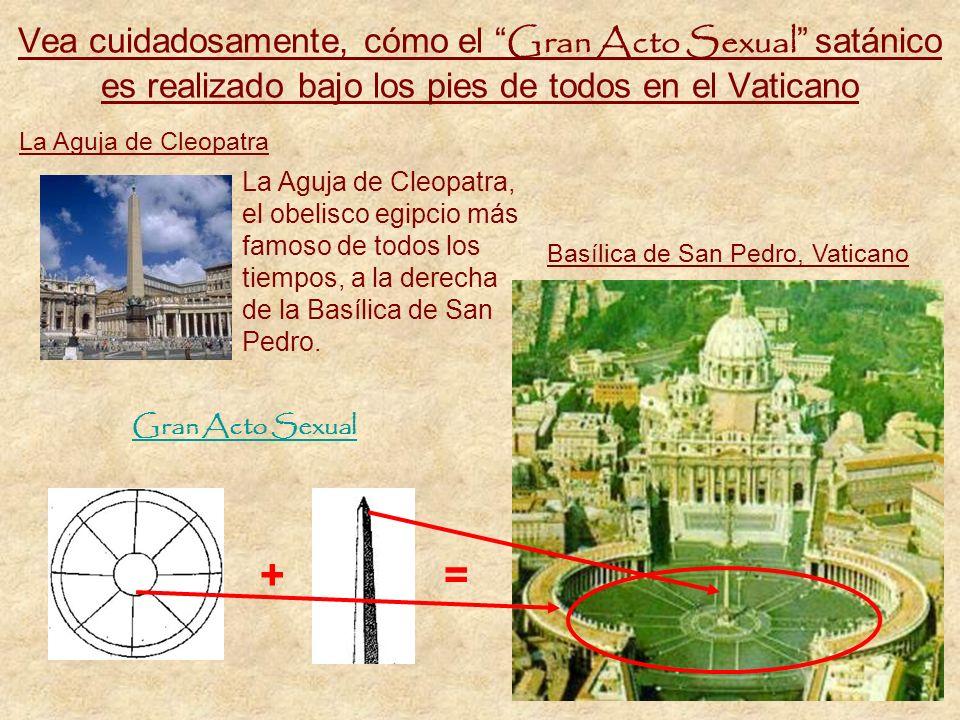 Óctuplo como adoración al sexo Este círculo (fig.2) también representa el órgano sexual femenino en enseñanza espiritual satánica. El obelisco (fig.1)