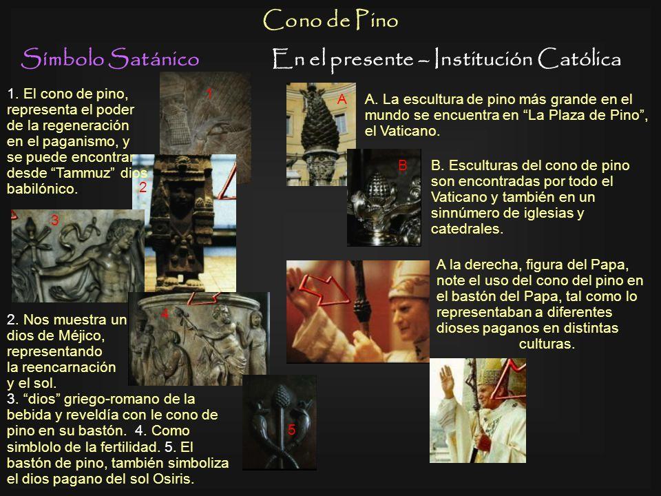 Símbolo SatánicoEn el presente – Institución Católica Rosario Izquierda, deidad Hindú sosteniendo un rosario adoración pagana. Era común enterrar a lo