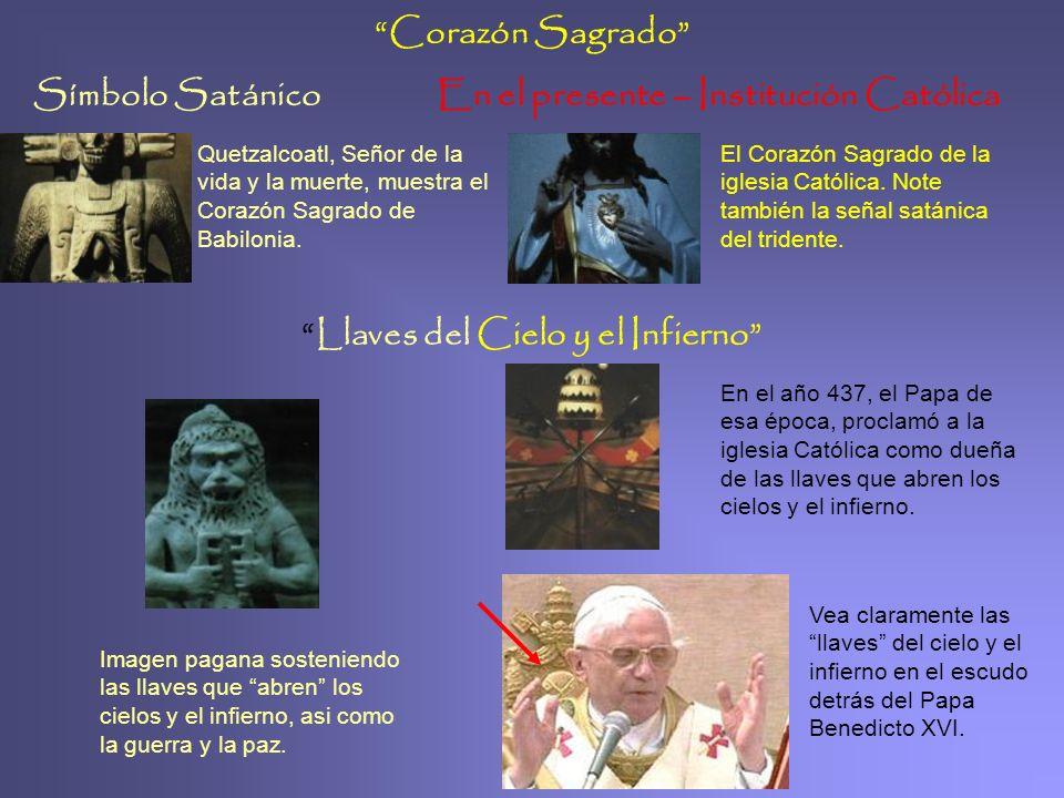 Símbolo SatánicoEn el presente – Institución Católica Cono de Pino 2. Nos muestra un dios de Méjico, representando la reencarnación y el sol. 3. dios