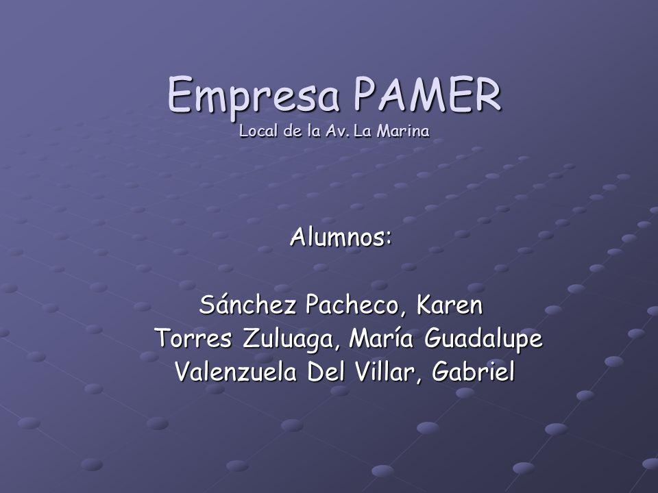 Empresa PAMER Local de la Av.