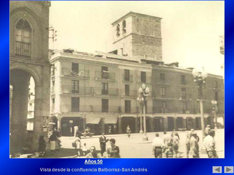 Años 50 Vista desde la confluencia Balborraz- San Andrés