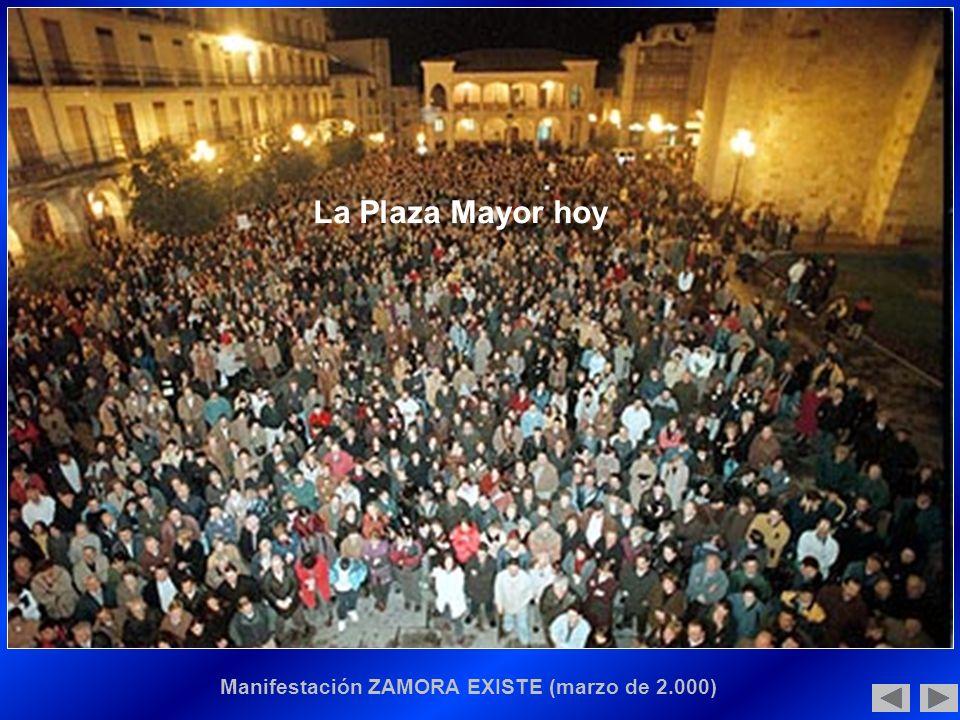 Manifestación ZAMORA EXISTE (marzo de 2.000) La Plaza Mayor hoy
