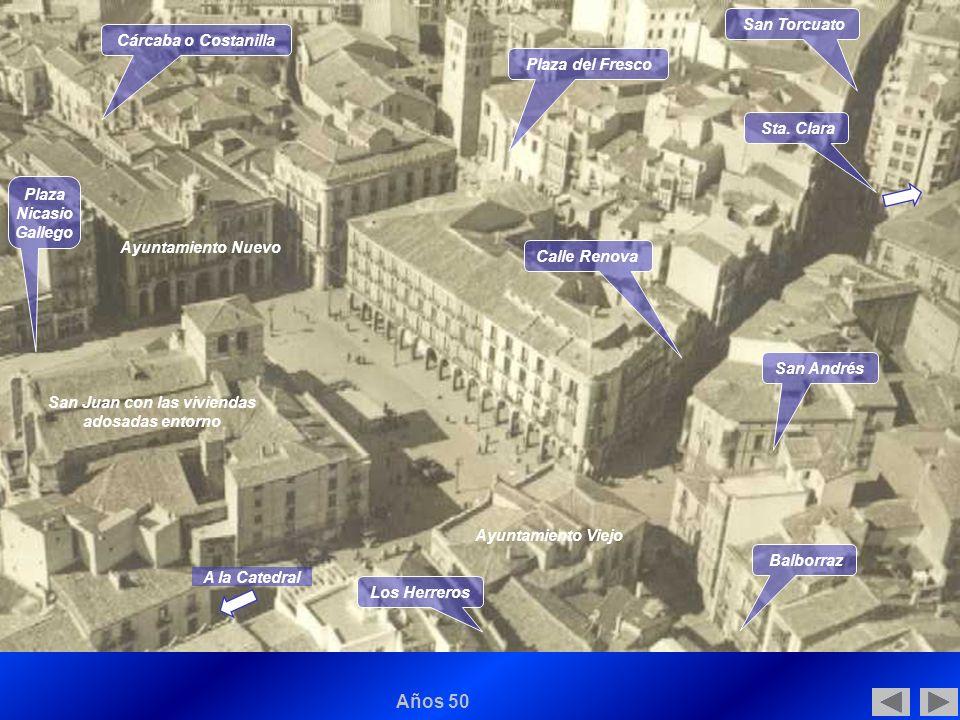 [...] desde el punto de vista fisonómico y urbanístico, y en lo que al casco urbano de la ciudad se refiere, se dan verdaderas constantes estructurales: no hubo grandes cambios entre fines del siglo XV y comienzos del siglo XIX, e incluso después.