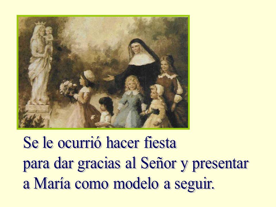 El día 21 de noviembre recordamos cómo los padres de María, según la costumbre de las familias judías, la presentaron a Dios en el Templo.