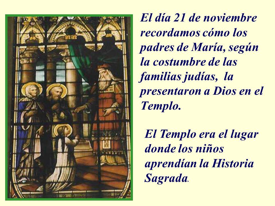 Santa Juana quiere que sus alumnas repitan el gesto de María