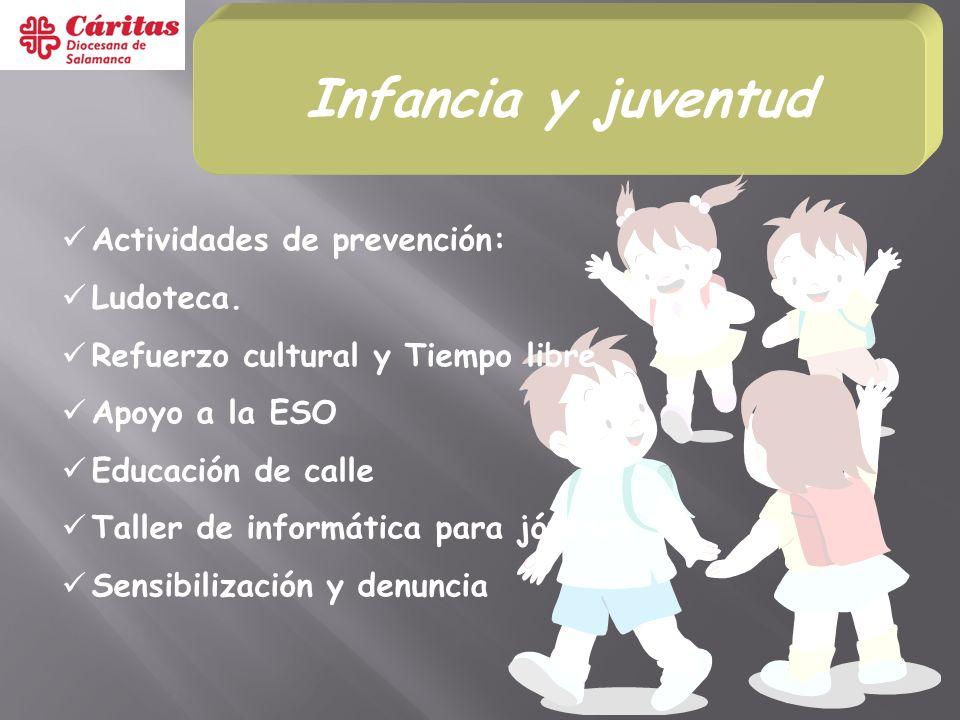 Infancia y juventud Actividades de prevención: Ludoteca.