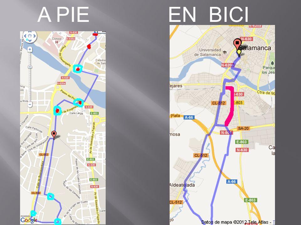 Los que van en bicicleta tienen un recorrido un poco más largo. Coinciden en gran parte del mismo.