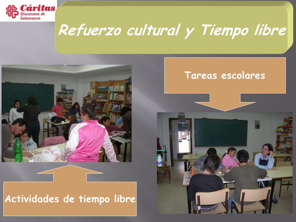 Refuerzo cultural y Tiempo libre Actividades de tiempo libre Tareas escolares