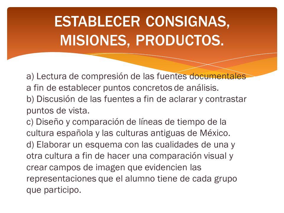 a) Lectura de compresión de las fuentes documentales a fin de establecer puntos concretos de análisis.
