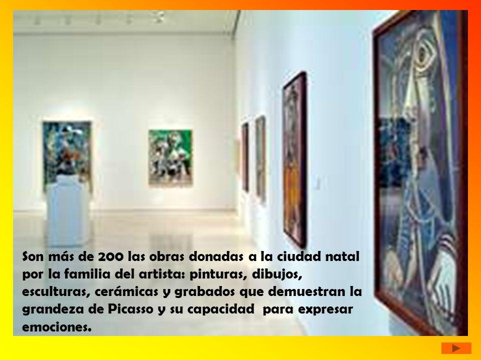 Son más de 200 las obras donadas a la ciudad natal por la familia del artista: pinturas, dibujos, esculturas, cerámicas y grabados que demuestran la grandeza de Picasso y su capacidad para expresar emociones.