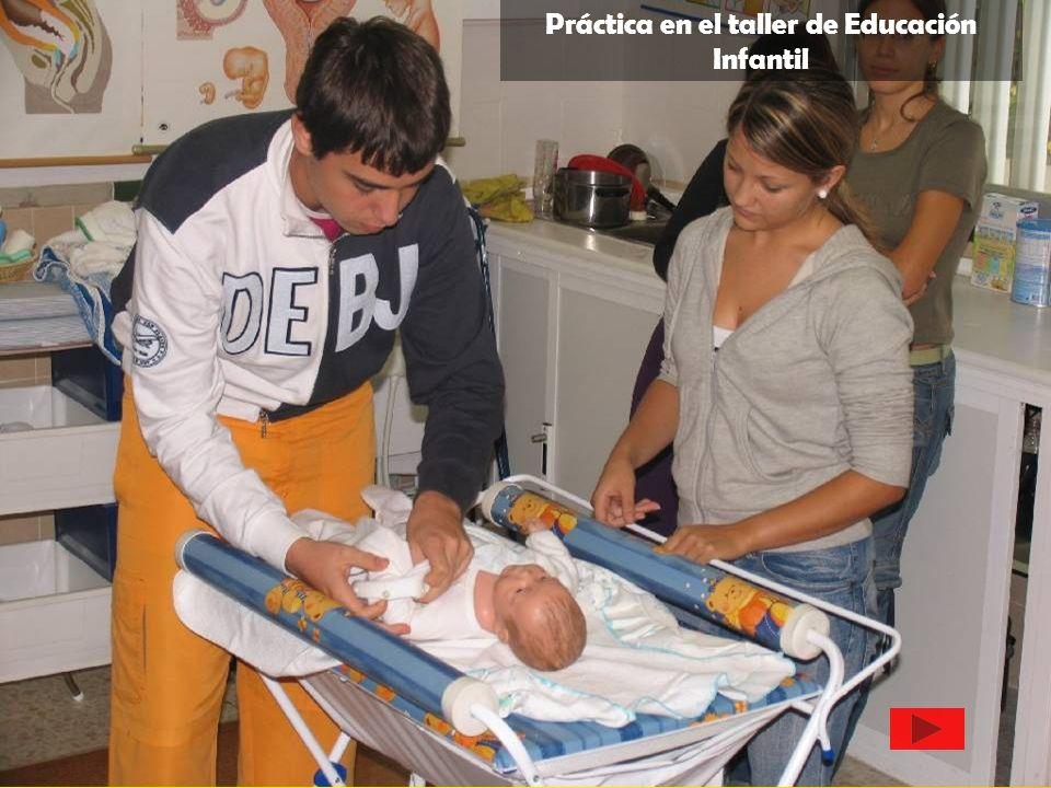 Práctica en el taller de Educación Infantil