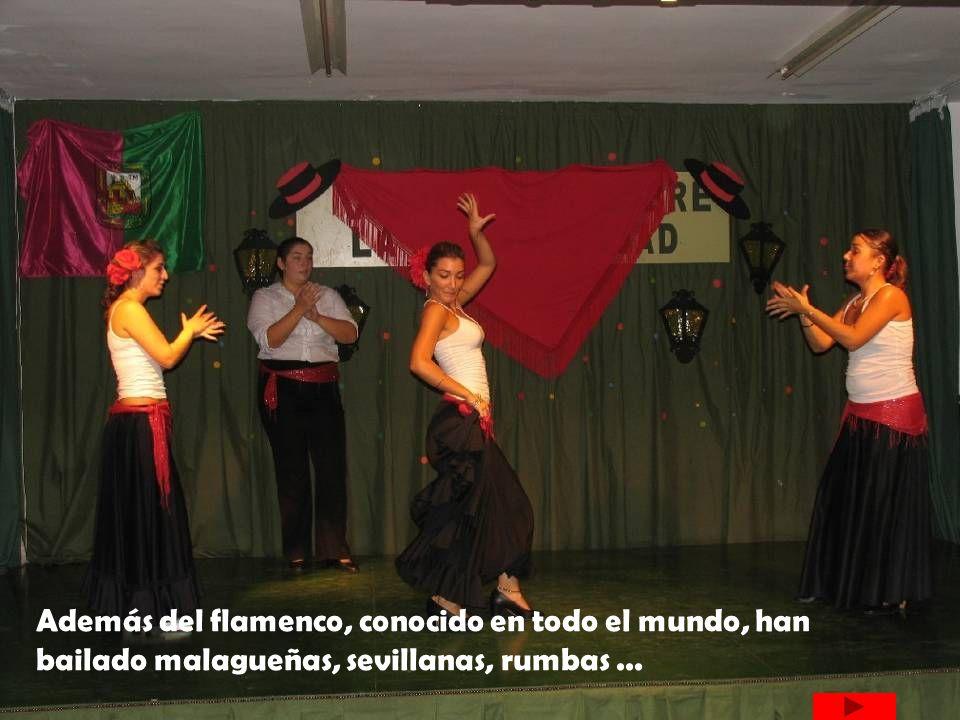 Además del flamenco, conocido en todo el mundo, han bailado malagueñas, sevillanas, rumbas...