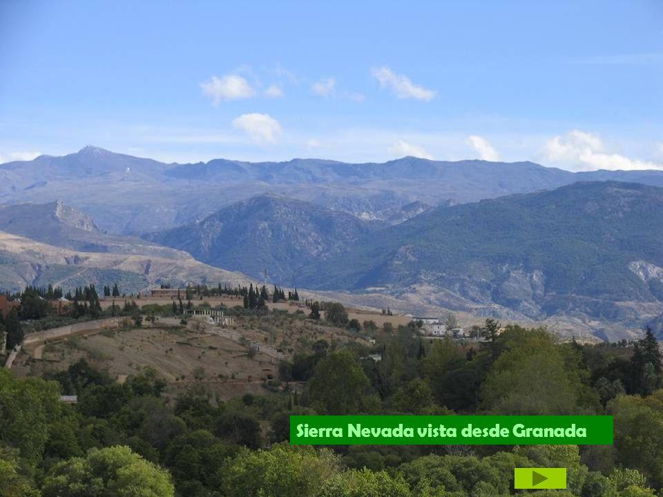 Sierra Nevada vista desde Granada