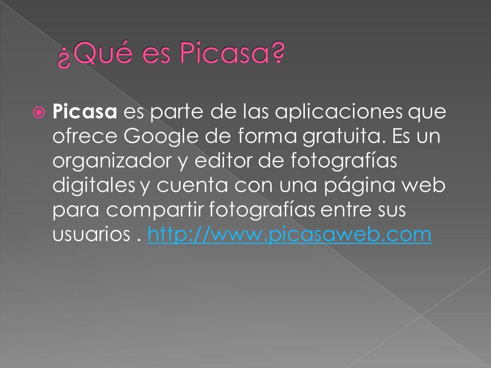 Picasa es parte de las aplicaciones que ofrece Google de forma gratuita.