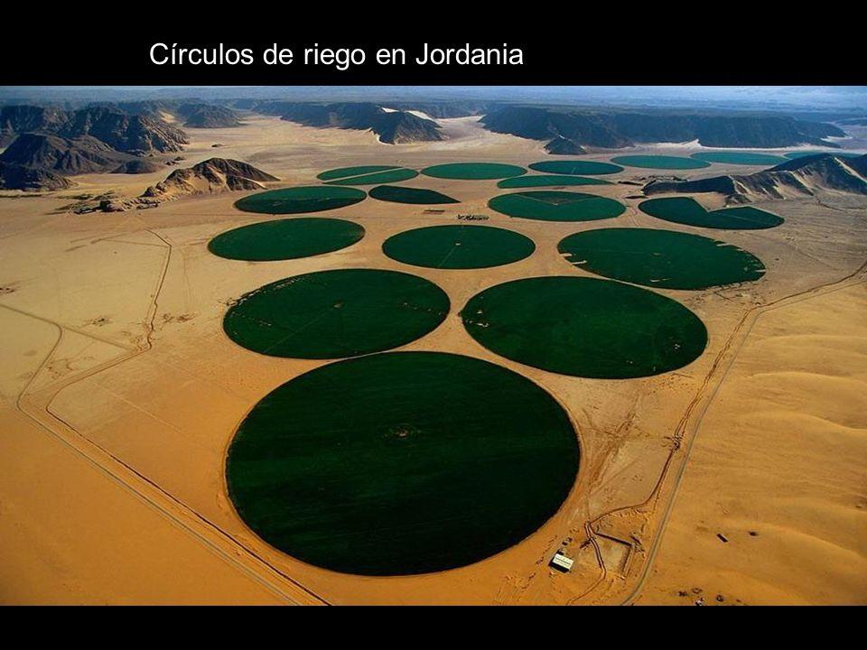 Círculos de riego en Jordania