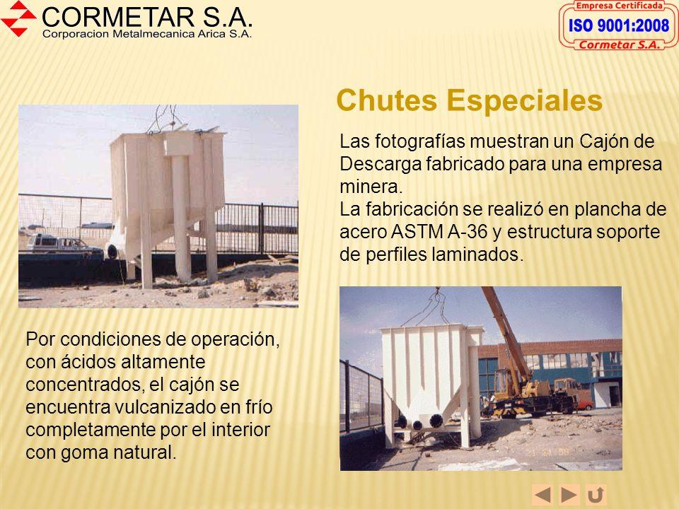 FABRICACION DE ESTRUCTURAS METÁLICAS CORMETAR S.A. es una empresa metalmecánica que mantiene la línea tradicional de multipropósito, dentro de la cual