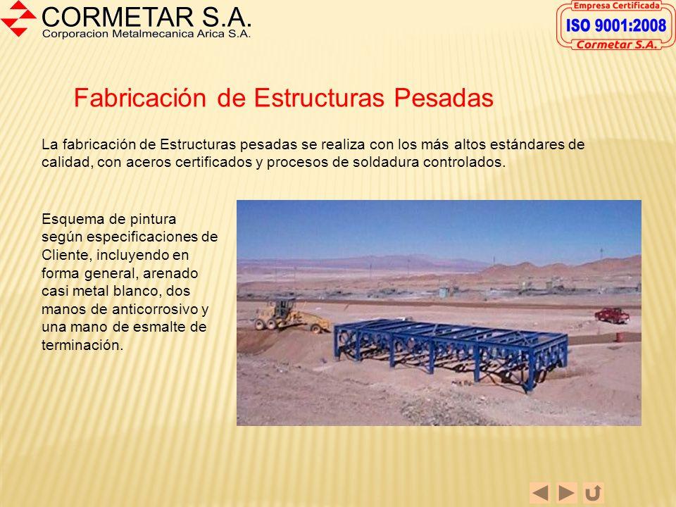 Chutes Especiales Las fotografías muestran un Cajón de Descarga fabricado para una empresa minera. La fabricación se realizó en plancha de acero ASTM